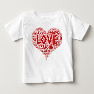 Heart illustrated with Love Word Baby T-Shirt