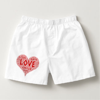 Heart illustrated with Love Word Boxers