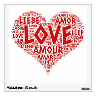 Heart illustrated with Love Word Wall Sticker