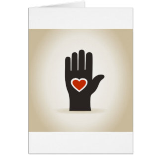 Heart in a hand card