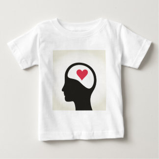 Heart in a head baby T-Shirt