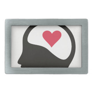 Heart in a head belt buckle