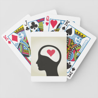 Heart in a head bicycle playing cards