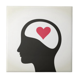 Heart in a head ceramic tiles