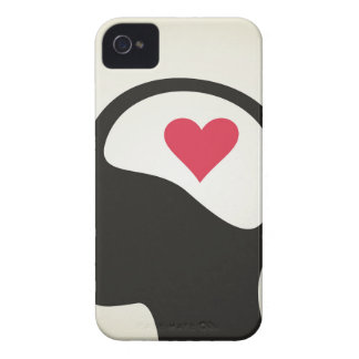 Heart in a head iPhone 4 Case-Mate case