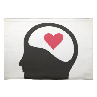 Heart in a head placemat