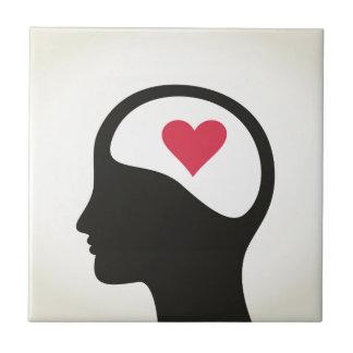 Heart in a head tile
