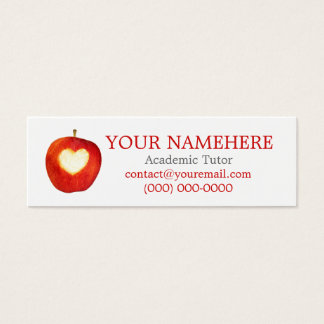 Heart in Apple Skinny Mini Business Card