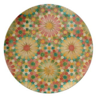 'Heart in Bloom' Islamic geometry plate