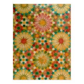 'Heart in Bloom' Islamic geometry postcard