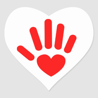 Heart In Hand Heart Sticker