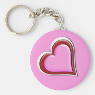 Heart in Heart Key fob