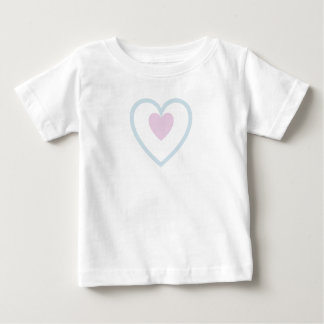 Heart in Heart - Pink in Blue Baby T-Shirt