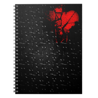 Heart İn Lost Puzzle Notebook