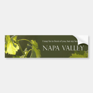 Heart in Napa Valley Bumper Sticker
