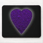 Heart in Purple Colours. Patterned Heart Design.