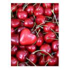 heart in the cherries postcard