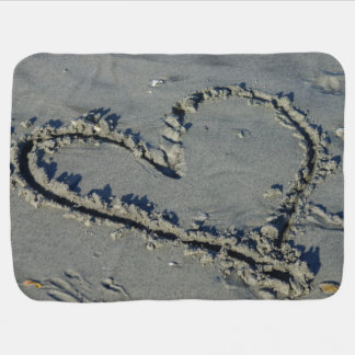 Heart In The Sand Baby Blanket