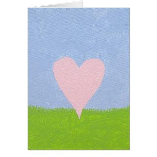 Heart in the sky card