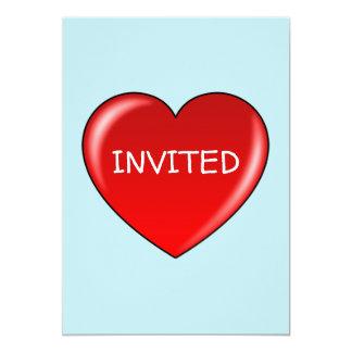 HEART INVITED CARD