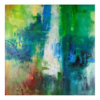 Heart is Evergreen Abstract Art by Shelley Stroeve