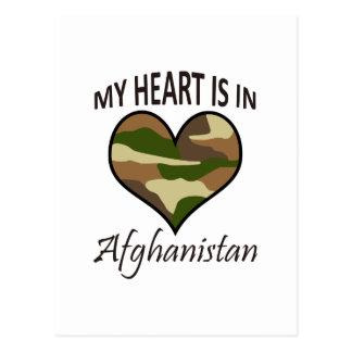 HEART IS IN AFGHANISTAN POSTCARD