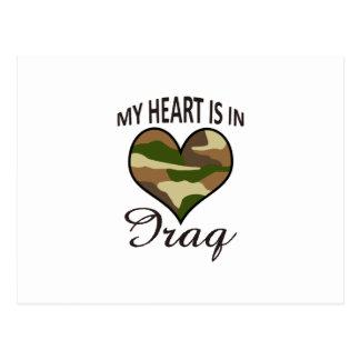HEART IS IN IRAQ POSTCARD