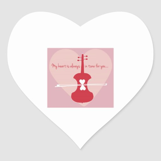 Heart Is In Tune Stickers