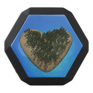 Heart island - 3D render Black Bluetooth Speaker