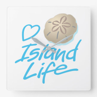 Heart Island Time Clock with Sand Dollar