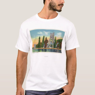 Heart Island View of Alster Tower T-Shirt