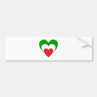 Heart Italy heart Italy Italia Bumper Sticker