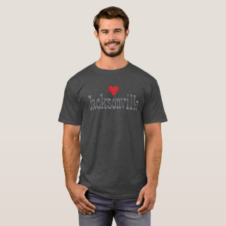HEART JACKSONVILLE DISTRESSED T-SHIRT