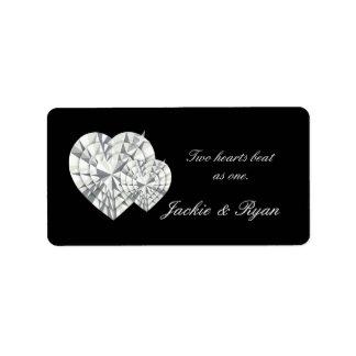Heart Jewelry Wedding Label