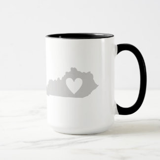Heart Kentucky state silhouette Mug