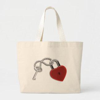 Heart Key And Lock Tote Bag