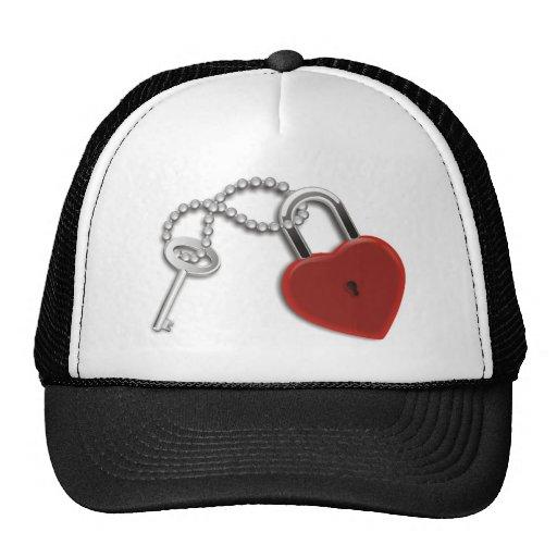 Heart Key And Lock Hats
