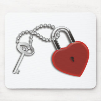 Heart Key And Lock Mouse Pad