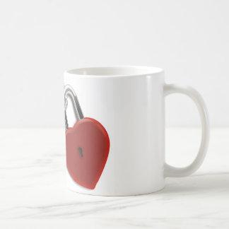 Heart Key And Lock Mugs