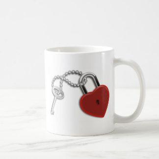 Heart Key And Lock Coffee Mugs