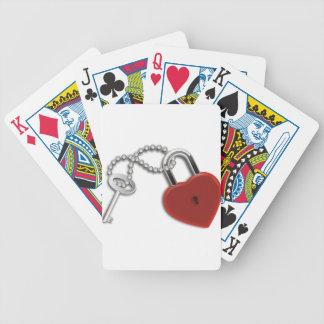 Heart Key And Lock Poker Deck