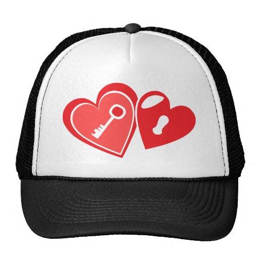 heart key trucker hats