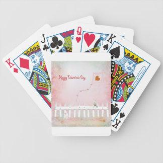 Heart Kite Flying, White Kitten, White Bird Bicycle Playing Cards