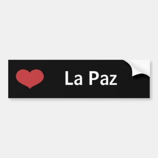 Heart La Paz Bumper Sticker