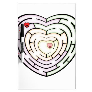 HEART LABYRINTH DRY ERASE WHITEBOARDS
