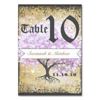 Heart Leaf Lavender Tree Vintage Bird Wedding Card