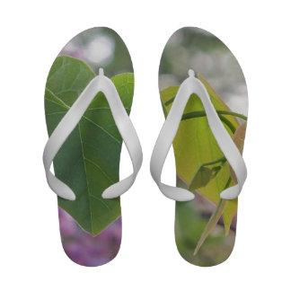 Heart Leaves Design Wedding Flip Flops