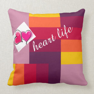 heart life throw pillow