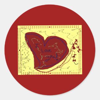 Heart Like a Kite Round Sticker