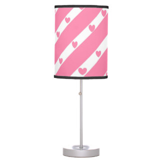 Heart Lines Pink Lamp